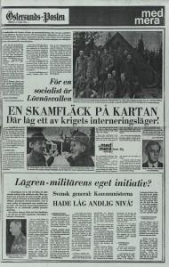 Tidningsartikel från Östersunds Posten , lördag 17 mars 1973