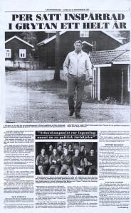 Tidningsartikel från Länstidningen, lördag 24 september 1983