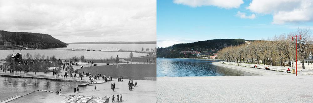 Badhusparken då och nu
