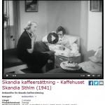 Se reklamfilm för Skandia kaffeersättning. Handla inte på svarta marknaden!