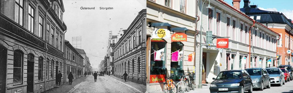 Storgatan ny och gammal bild