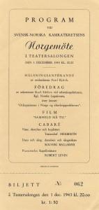 Svenska Norgehjälpen startades 1942 för att samordna och effektivisera de humanitära hjälpinsatserna i det ockuperade Norge. Norgehjälpen stöddes främst av de stora arbetsmarknadsorganisationerna och tog sig många former: bespisning av barn och gamla, byggande av sjukhus och konvalescenthem, bidrag till norska sjömansfamiljer m.m. Hjälpen finansierades i huvudsak genom insamlingar och hade, utom naturagåvor, ett samlat värde på ca 72 milj. kr., varav 22 milj. kr. från industrins insamlingsaktion Norvegia. Kansliet förlades till LO, vars ordförande August Lindberg tagit initiativet. Norgehjälpen avvecklades efter befrielsen 1945.